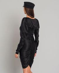 Czarna jedwabna sukienka