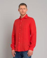 Czerwona lniana koszula