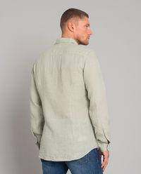 Zielona lniana koszula