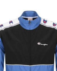 Niebieska kurtka z logo