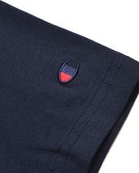 Granatowa koszulka z krótkim rękawem