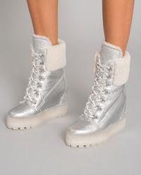 Sneakersy na koturnie z kożuchem