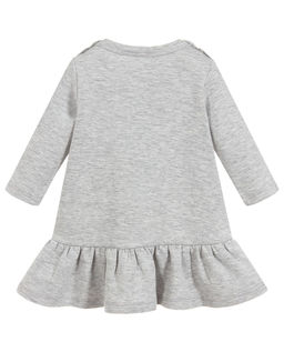Szara sukienka z nadrukiem 0-2 lata