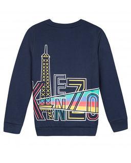 Granatowa bluza z kolorowym nadrukiem 4-14 lat