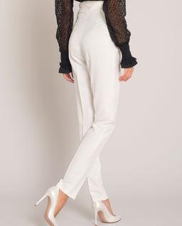 Białe eleganckie spodnie w kant Vivi