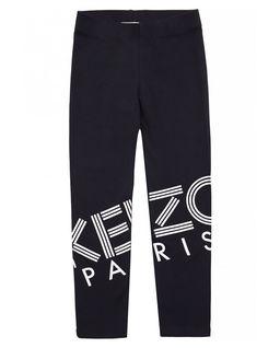 Czarne legginsy z nadrukiem 4-14 lat