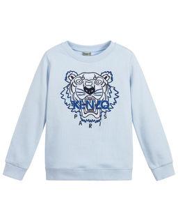 Niebieska bluza z logo 4-12 lat