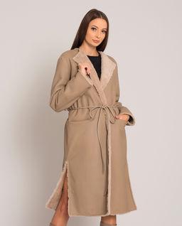Oboustranný béžový kabát