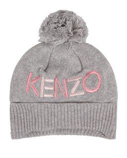 Szara czapka z logo 0-2 lat
