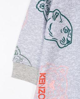 Szara bluza z kolorowym nadrukiem 0-2 lata