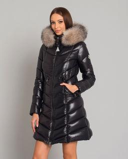 Czarny płaszcz puchowy Fulmarus