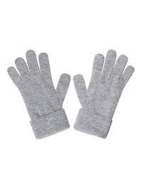 Szare wełniane rękawiczki