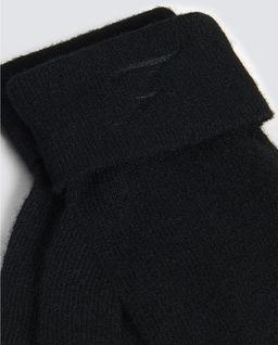 Czarne wełniane rękawiczki