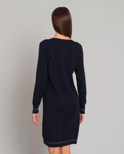 Granatowa wełniana sukienka