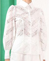 Biała koronkowa bluzka