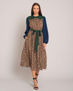 Sukienka z motywem skóry węża