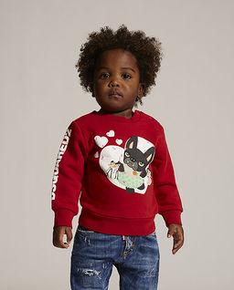 Czerwona bluza z pieskiem 0-3 lata
