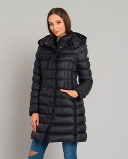 Czarny płaszcz puchowy Hermine