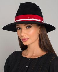 Czarny kapelusz z logo