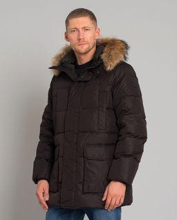 Brązowa kurtka z futrem