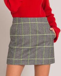 Szara spódnica w kratkę