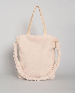 Beżowa torba z kożucha