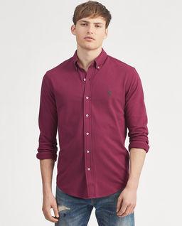 Bordowa koszula Mesh