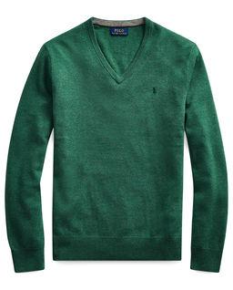 Zielony sweter z wełny merino