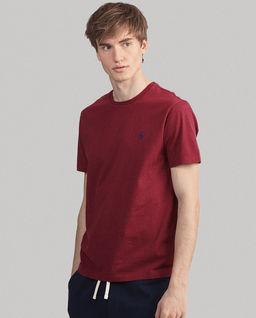 Bordowy t-shirt Custom Slim Fit