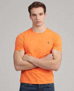 Pomarańczowy t-shirt Custom Slim Fit