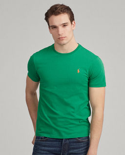 Zielony t-shirt Custom Slim Fit