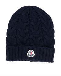 Granatowa wełniana czapka