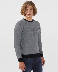 Melanżowa bluza z logo