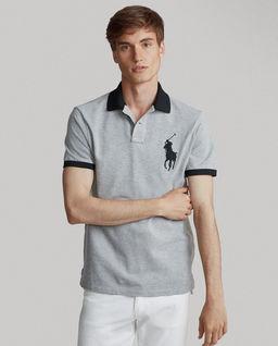Szara koszulka polo