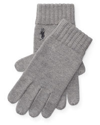 Szare rękawiczki z wełny