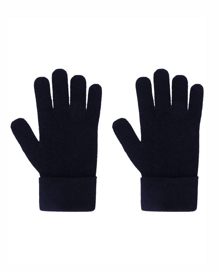 Granatowe wełniane rękawiczki