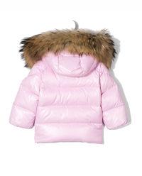 Różowa kurtka puchowa 0-3 lat