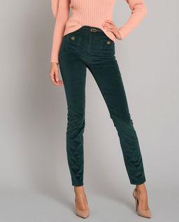 Aksamitne spodnie z paskiem
