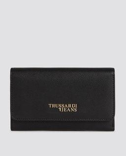 Czarny portfel z logo