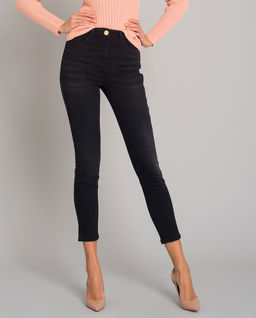 Jeansy skinny z ozdobnym szwem