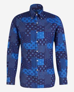 Patchworkowa koszula Slim Fit