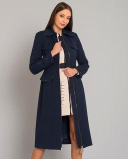 Płaszcz z logowanymi szwami