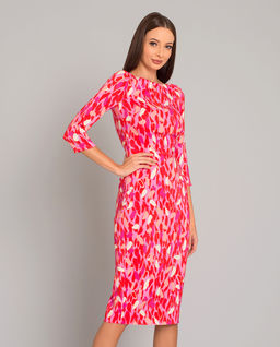 Sukienka z kolorowym printem