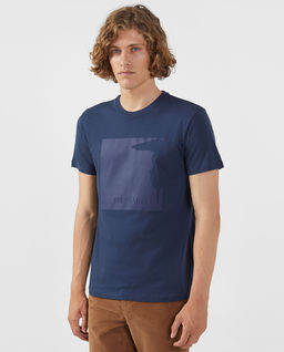 Granatowy t-shirt z logo