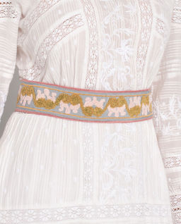 Szeroki pasek z bawełny