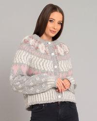 Pastelowy sweter z wełny