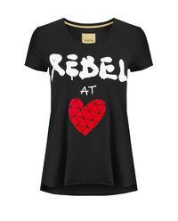 Czarny t-shirt Rebel