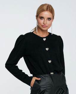 Czarny sweter z bufkami