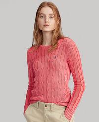Czerwony sweter z bawełny