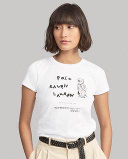 Bílé tričko s medvídkem